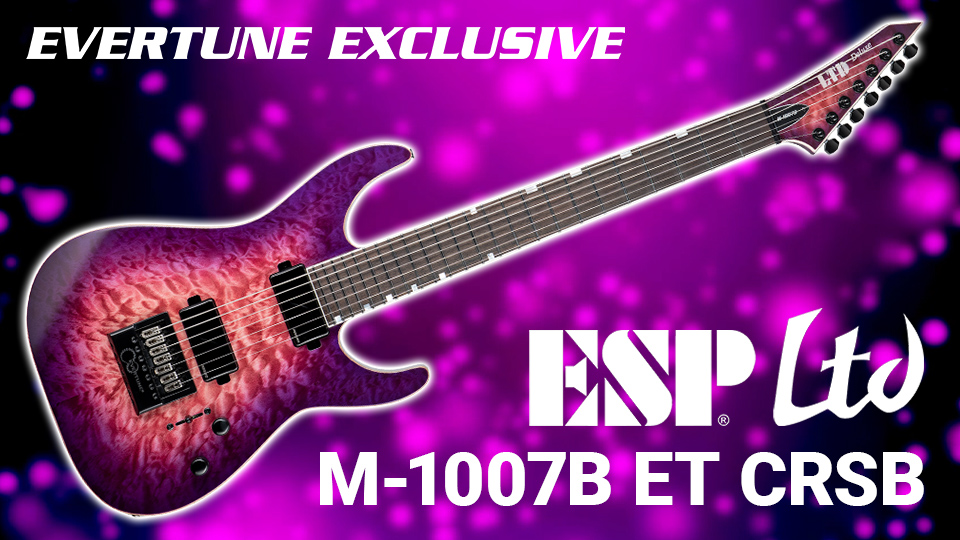Introducing the ESP LTD M-1007B ET Cranberry Burst • Exclusively from EverTune and ESP! $100 Off Pre-Orders Now!