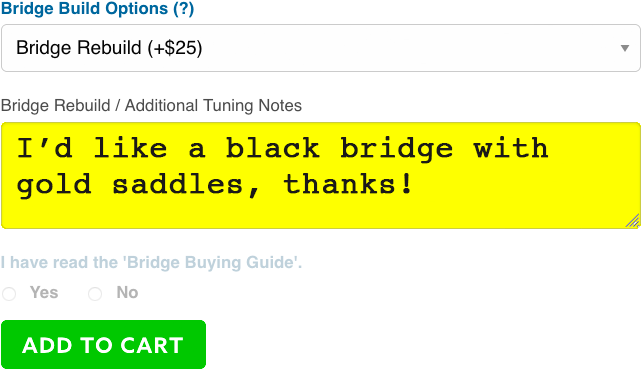 Sample BRIDGE REBUILD instructions.