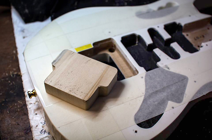 block used to fill the tremolo cavity