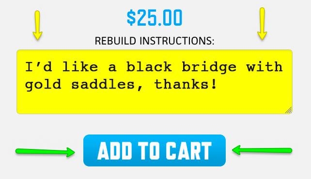 Sample BRIDGE REBUILD instructions.
