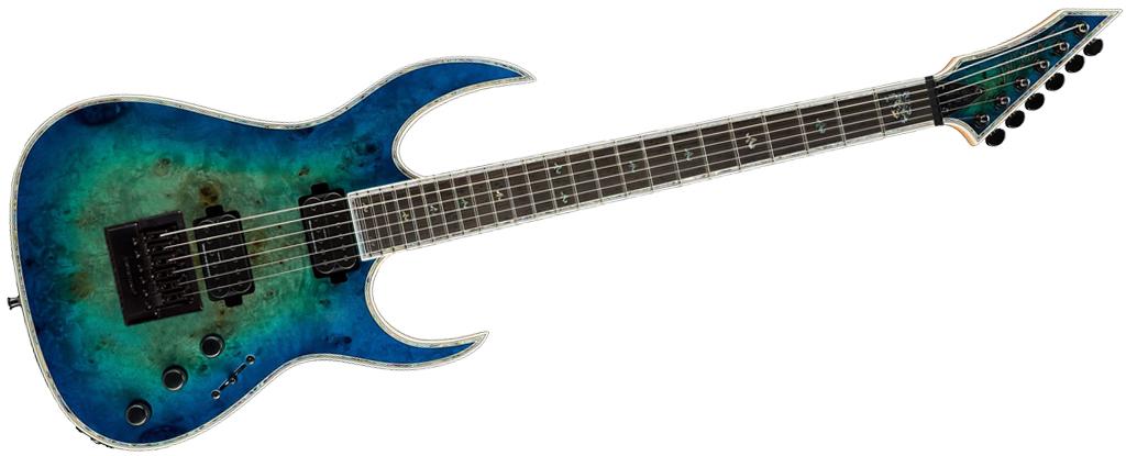 B.C. Rich Shredzilla Prophecy Archtop Cyan Blue with EverTune