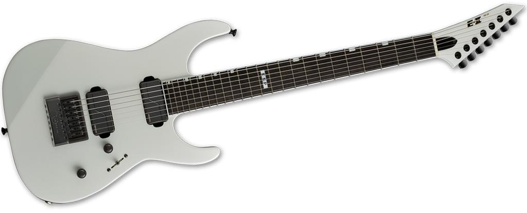ESP E-II M-II 7B Baritone EverTune • Pearl White • Made In Japan