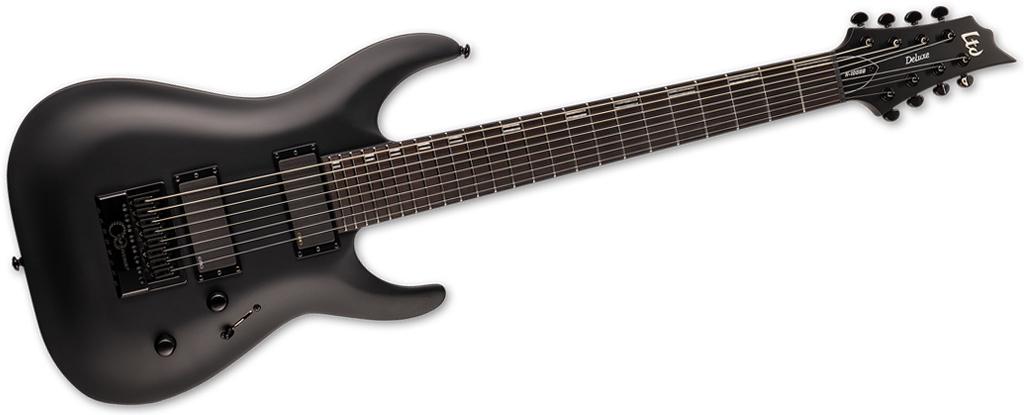 ESP LTD H-1008 Baritone EverTune • Black Satin