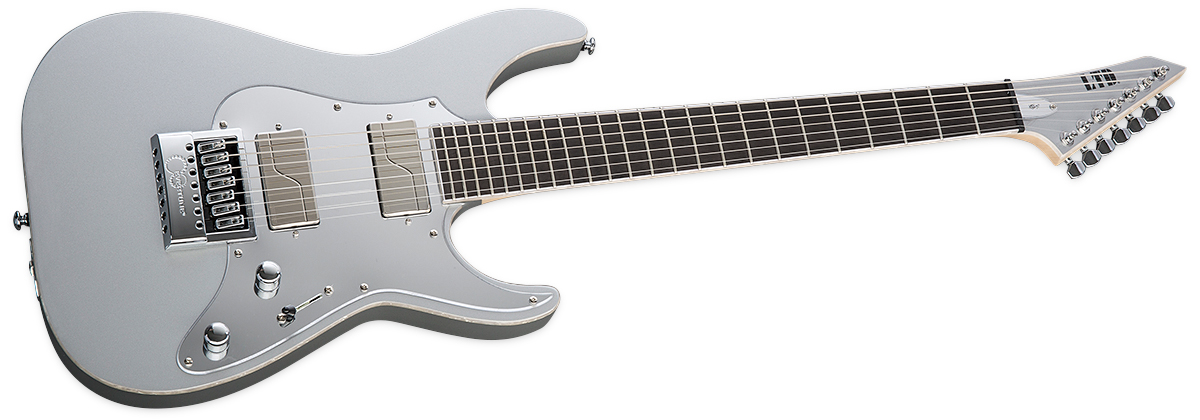 ESP LTD KS M-7 EverTune Ken Susi Signature • Metallic Silver