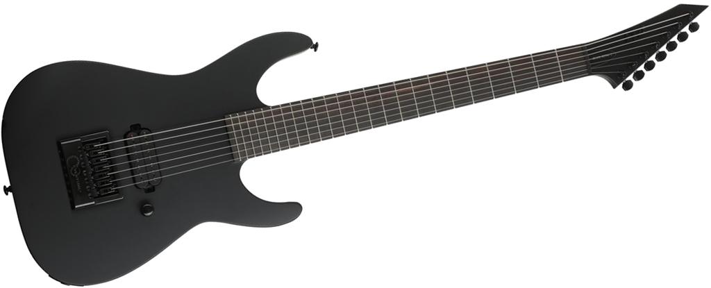 ESP LTD M-7HT Baritone Black Metal • Black Satin • EverTune AfterMarket Upgrade