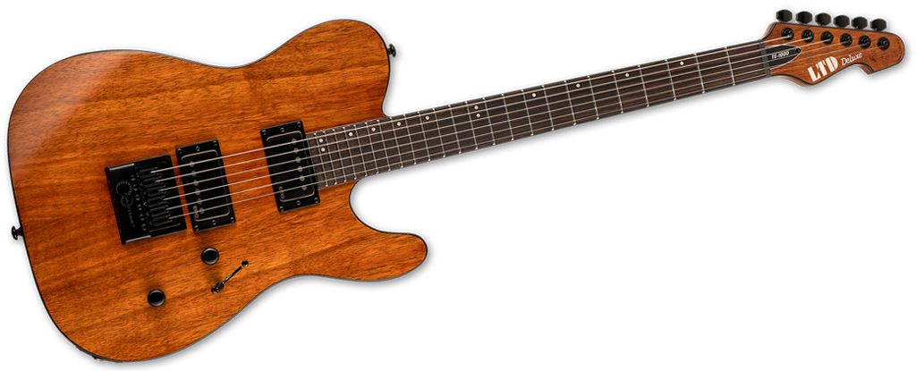 ESP LTD  TE-1000 EverTune • Koa Natural Gloss
