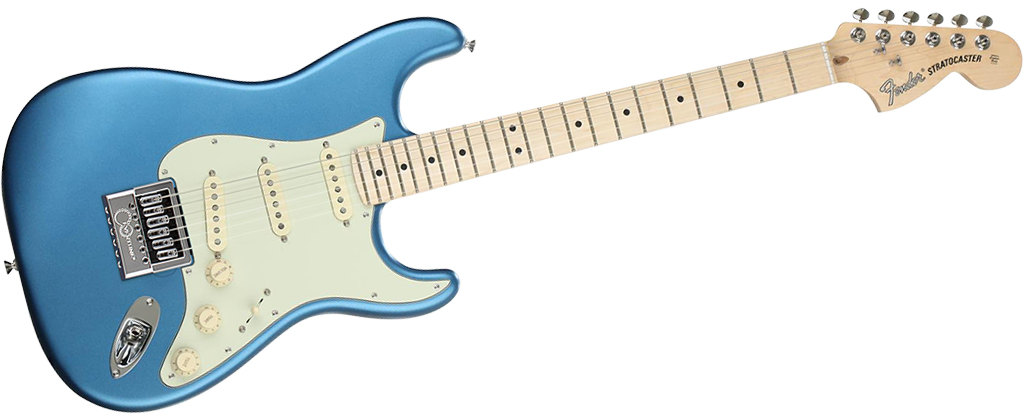 Fender American Performer Stratocaster Satin Lake Placid Blue EverTune AfterMarket Upgrade