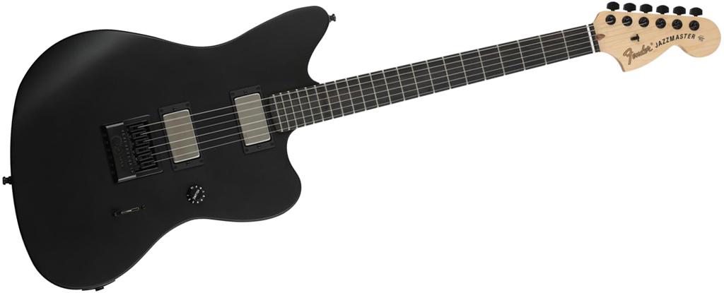 Fender Jim Root Jazzmaster Flat Black EverTune AfterMarket Upgrade