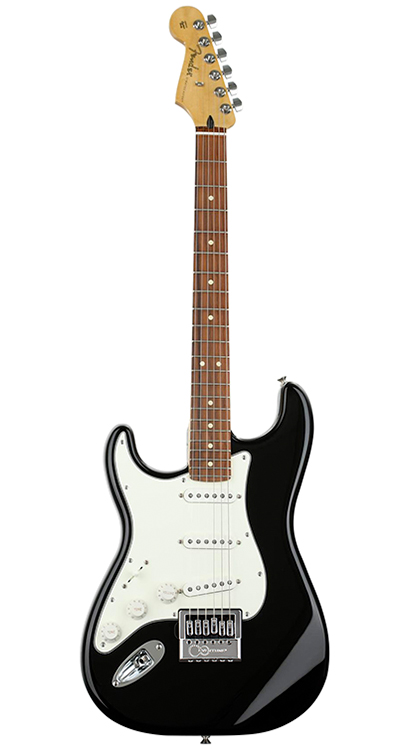 Fender Left-Handed Player Series Stratocaster • Black w/ Pau Ferro (SSS) • EverTune AfterMarket Upgrade