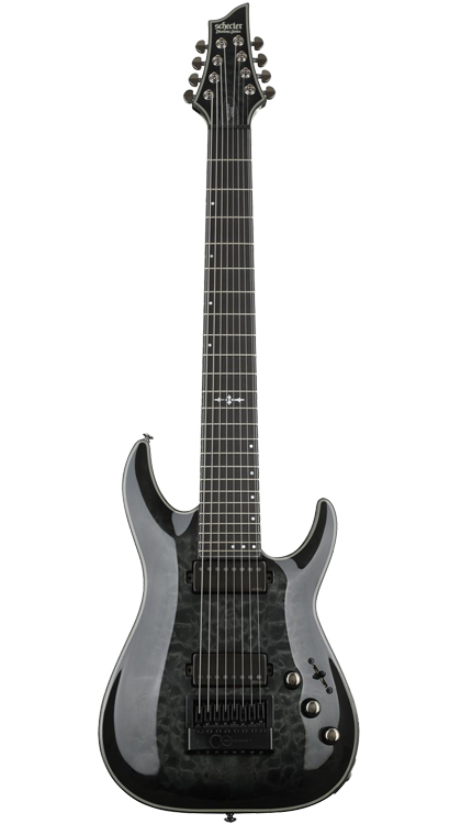 Schecter  Hellraiser Hybrid  • Trans Black Burst • EverTune AfterMarket Upgrade