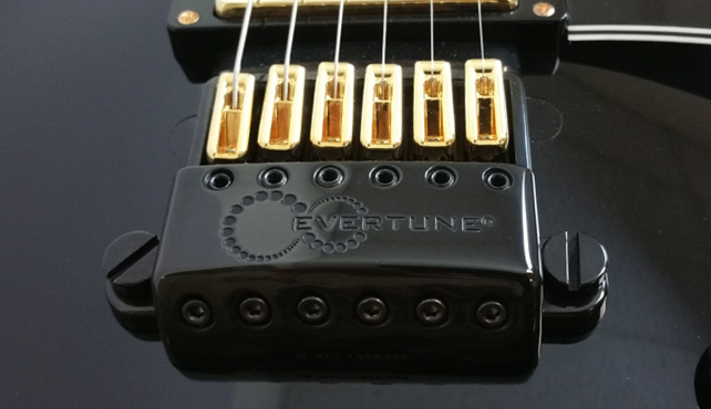 Sample black bridge with gold saddles