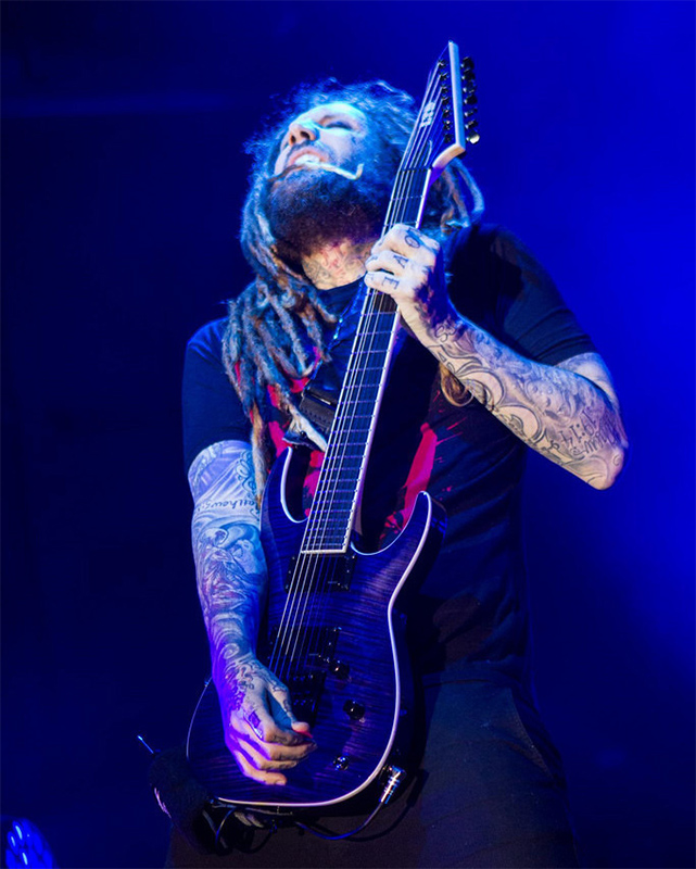 Brian Head Welch with his signature SH-7 ESP LTD model